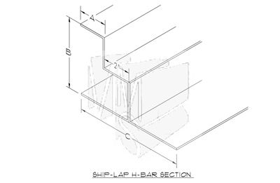 Ship Lapped H Bar
