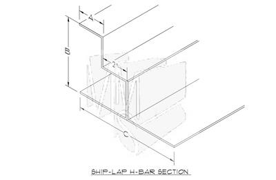Ship Lapped H Bar